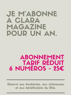 Abonnement tarif réduit (25€)